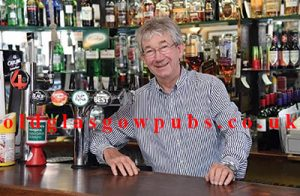 Alistair Don behind the Bar of the Doublet