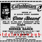 Advert for Cathadhamara Dunlop Street 1974