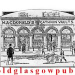 Drawing of the Cathkin Vaults 16-18 Pollokshaws Road 1893