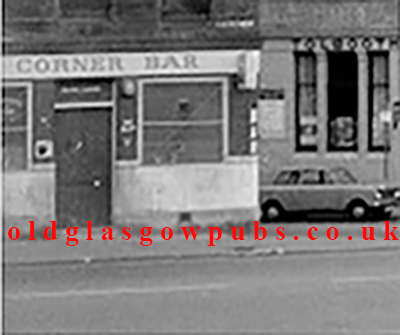 Exterior view of the Corner Bar Stirling Road Townhead 1970