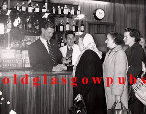 Interior of Deans Bar opening of the off sales 1960s