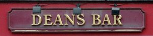 Deans Bar sign 2005