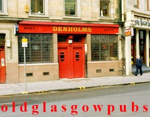 Image of Denholms Bar Hope Street Glasgow 1991