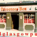 Image of the Directors Box bar Hope Street, Glasgow 1980s
