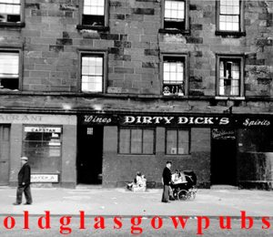 Image of Dirty Dicks bar 175 Finnieston Street dated 1955