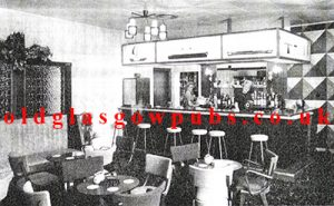 Interior view of the new bar and lounge at the Dry Dock Plean Street 1963
