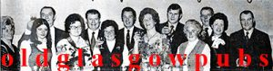 Image of a large group of Gorbals Ward night out 1974