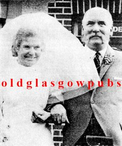 Wedding image of Irene Deans and father John B Deans 1970