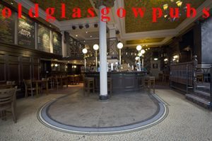 image of the interior of MacSorley's Bar showing an old tiled floor