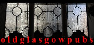 three etched glass windows of MacSorley's Bar 2005