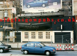 exterior view of Minstrels Broomielaw, 1991.