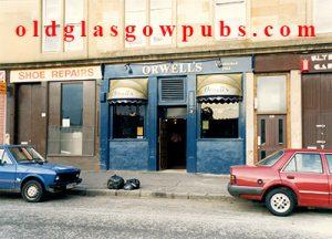 Exterior image of Orwell's Bar Elderslie Street 1991