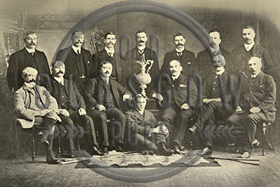 Group image of the St Mungo Golf Club, 1905 with Mr William Brown Johnston.
