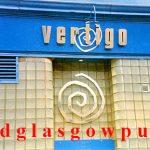 Closeup of the Vertigo nightclub Dunlop Street 1991