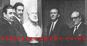 Group image of Mr W R Macrae, D McFarlane and Mr J Snowie of Dow's