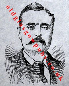 Drawing of Mr William Lawson the proprietor of the old Drum 1892