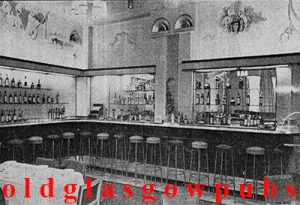 Image of the interior of Wypers Bar Renfield Street 1953