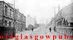 Image on the old Newton Inn Newton Brae Cambuslang 1910