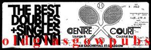Advert for the Centre Court bar Sauchiehall Street 1979
