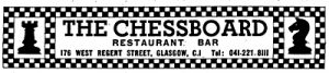 Advert for the Chess Board West Regent Street 1970