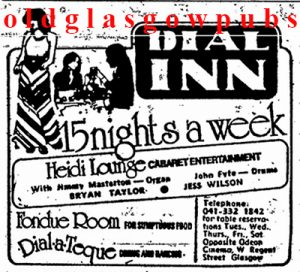 Advert for the Dial Inn 1974