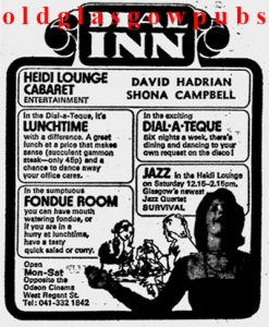 Advert for the Dial Inn 1975
