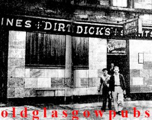 Image of Dirty Dicks Bar 175 Finnieston Street dated 1948