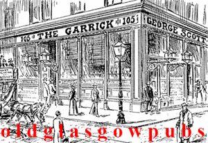 Drawing of the Garrick Vaults Main Street Gorbals