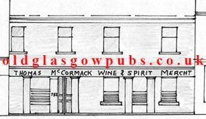 Drawing of Thomas McCormick's premises Gallowgate