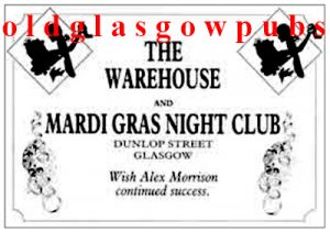 Advert for the Warehouse and Mardi Gras Night Clubs