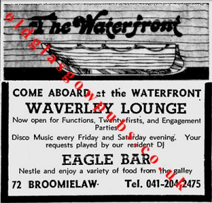 Advert for the Waterfront 1979