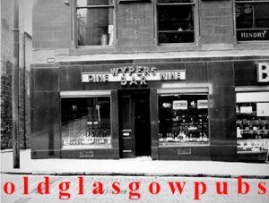 Wypers Bar Renfield Street 1936