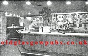 Interior view of the main bar in the Cactus Bar Bridgeton Cross 1962.