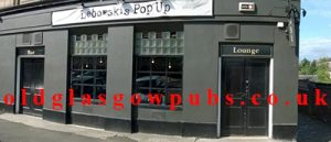 Exterior of Lebowski's Pop Up bar Nithsdale Road 2015