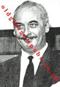 Image of Mr G R Milne interior design consultant for UCB 1962
