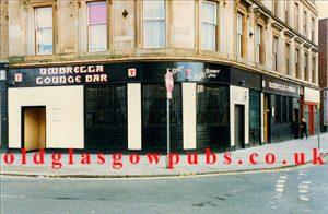 Exterior view of The Umbrella Bar, Bridgeton Cross, 1991