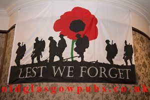 Banner for the support of Lest We Forget