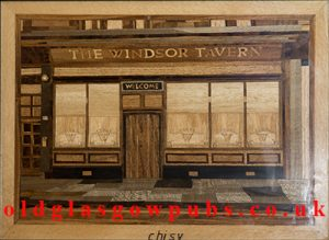 Wooden plaque of the Windsor Tavern by Crist