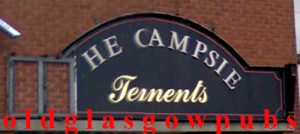 The Campsie bar sign 2008