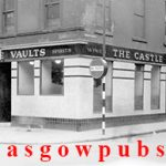 Exterior image of the Castle Vaults with the Drury Bar on the right hand side circa 1960