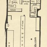 Architect drawing of premises at 32-34 Main Street, Bridgeton 1911